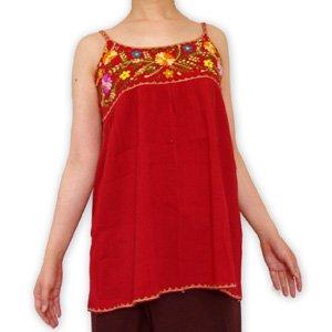エスニックファッション・アジアンファッション  カラフル刺繍タンクトップ/エスニックファッション・アジアンファッション・アウトレット・セール