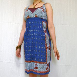 エスニックファッション・アジアンファッション  スカーフ柄スリップワンピース/エスニックファッション・アジアンファッション・アウトレット・セール