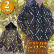カラーアフリカンキルトジャケット/エスニックファッション・アジアンファッション・中綿・ダウン