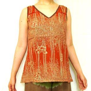 エスニックファッション・アジアンファッション  スプラッシュフラワータンクトップ/エスニックファッション・アジアンファッション・アウトレット・セール
