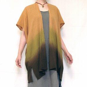 エスニックファッション・アジアンファッション  【オリジナル】タイダイグラデーションポンチョ