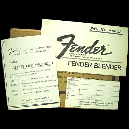 Fender BLENDER (オリジナル) ギター・エフェクター rockstone