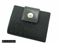BVLGARI ブルガリ 2つ折財布 Wホック 22241 ブラック ロゴマニア