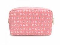 BVLGARI ブルガリ コスメポーチ バッグ 22502 ロゴマニア ピンク