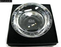 ブルガリ 灰皿 ロゴ 12cm(丸型) クリスタル BVLGARI
