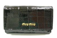 MIUMIU ミュウミュウ 6連キーケース 5M0222 MORO ST.COCCO LUX ダークブラウン