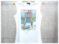 ドルチェ&ガッバーナ レディース DOLCE&GABBANA - D&G ディー&ジー プリントタンクトップTシャツ SN0012 ホワイト ロゴ ドルガバ