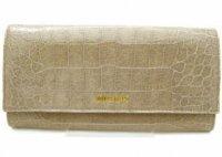 MIUMIU ミュウミュウ 長財布 5M1109-ST-COCCO-LUX-ALLUMINIO クロコ型押し グレーベージュ