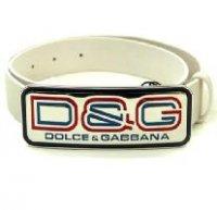 D&G ディー&ジー メンズベルト DC0643-E1429 ホワイト ドルガバ