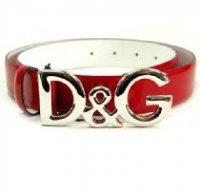 D&G ディー&ジー メンズベルト DC0624-E1038 80303 レッド ドルガバ