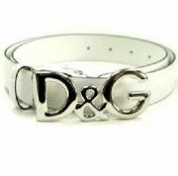 D&G ディー&ジー メンズベルト DC0624-E1038 80001 ホワイト ドルガバ