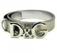 D&G ディー&ジー メンズベルト DC0624-E1417 シルバー ドルガバ