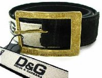 D&G ディー&ジー メンズ ベルトDC0344-E4177 ブラック ドルガバ