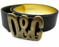 D&G ディー&ジー メンズベルト DC0459-E1366ブラック ドルガバ