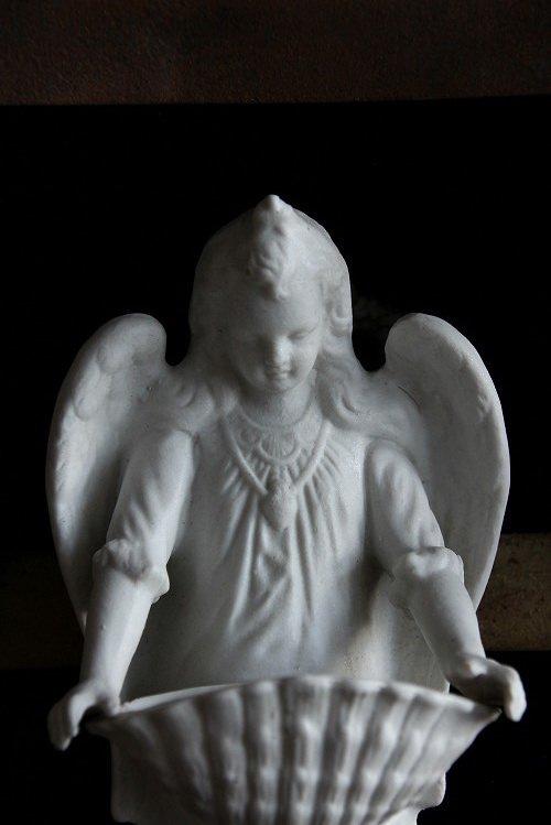 アンティーク少女の天使の聖水入れ