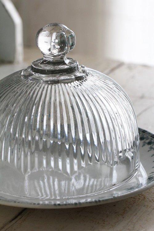 アンティークガラスクロッシェ