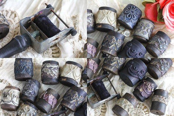 アンティーク刺繍用ローラー&タンポン(スタンプ)