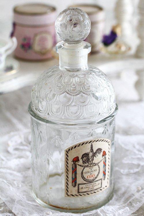 アンティーク香水ボトルゲランビーボトルラベル付き