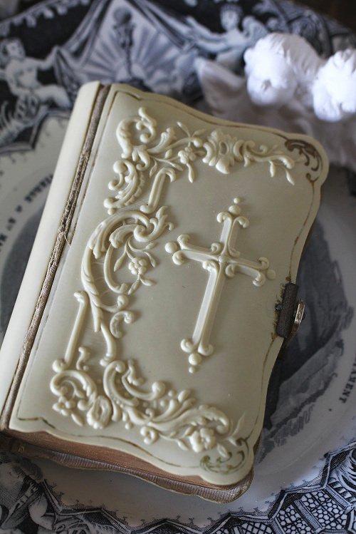 アンティークミゼル(祈祷書)クロス十字架