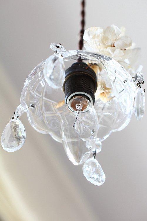 アンティークプチシャンデリアガラスシェードティアドロップ