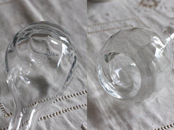 アンティークモノグラムガラスカラフェ