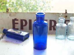 アンティークガラスケミカルボトルA