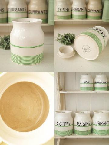 アンティーク陶器ジャー:COFFEE