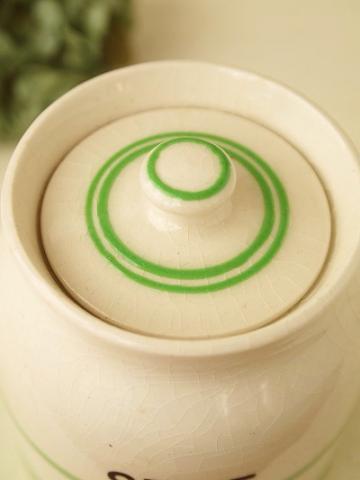 アンティーク陶器スパイスジャー:SAGE