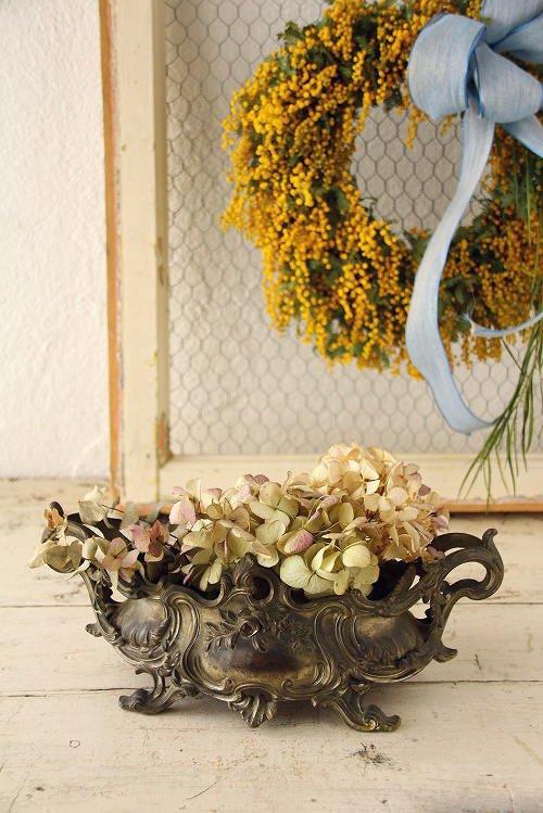 アンティークジャルディニエール(花器)