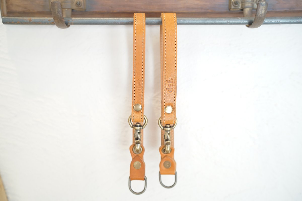 "【def.】Leash handle ""CAMEL"""