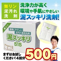 <img class='new_mark_img1' src='https://img.shop-pro.jp/img/new/icons7.gif' style='border:none;display:inline;margin:0px;padding:0px;width:auto;' />【送料無料】泥スッキリ515お試し【初回限定】