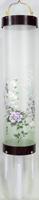 住吉提灯 絹張り B紫檀 「牡丹桔梗」