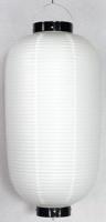 白ビニール提灯 長型