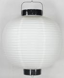 白ビニール提灯 丸型