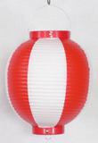 紅白ビニール提灯 丸型