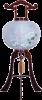盆提灯-大内行灯 二重張り 桜 「牡丹芙蓉」 尺一(11号)