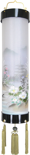 盆提灯-住吉提灯 二重張り 本塗り 「五重の塔」 尺二(12号)の画像1