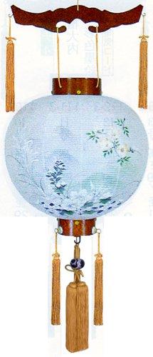 盆提灯-御殿丸 二重張り 欅 「秋の連山」 尺四(14号)の画像1