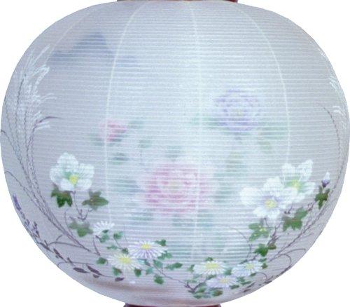 盆提灯-御殿丸 二重張り 桜 「牡丹芙蓉」 尺四(14号)の画像2