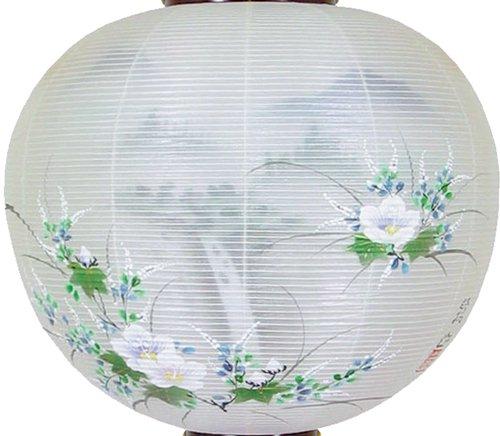 盆提灯-御殿丸 二重張り 桜 「照葉」 尺四(14号)の画像2