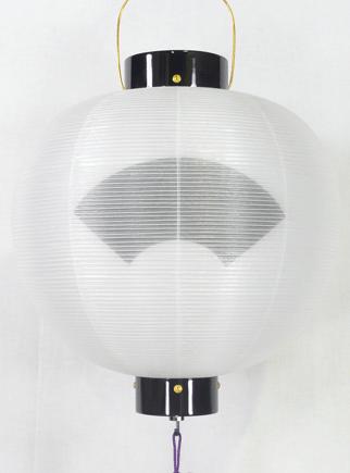 盆提灯-門提灯 丸型 二重張り 尺五(15号) 家紋・家名代無料の画像2