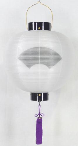 盆提灯-門提灯 丸型 二重張り 尺八(18号) 家紋・家名代無料の画像1