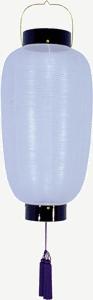 盆提灯-門提灯 長型 絹張り 中 家紋・家名代無料