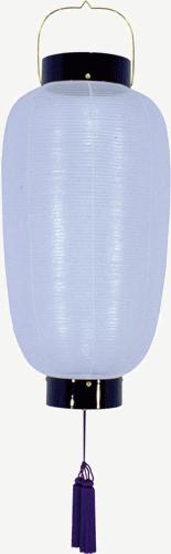 盆提灯-門提灯 長型 絹張り 中 家紋・家名代無料の画像1