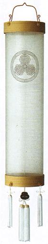 盆提灯-住吉提灯 絹張り 白木 無地 八寸(8号) 家紋代無料の画像1
