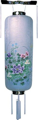 盆提灯-博多長 紙張り 蒔絵 「花柄」 松(中)の画像1