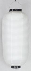 白ビニール提灯 長型 九長