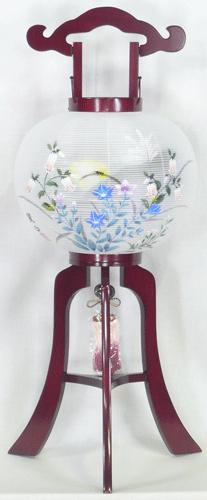 盆提灯-大内行灯 二重張り 桜 「蛍草」 尺一(11号)の画像1