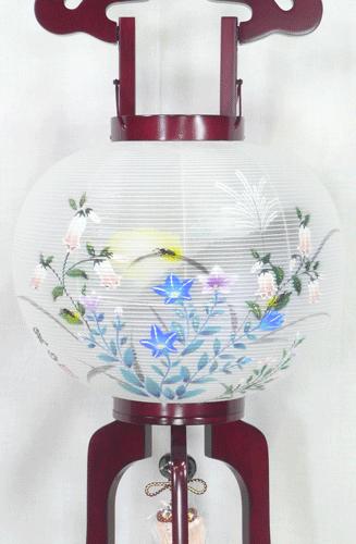 盆提灯-大内行灯 二重張り 桜 「蛍草」 尺一(11号)の画像2