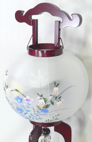 盆提灯-大内行灯 二重張り 桜 「蛍草」 尺一(11号)の画像3